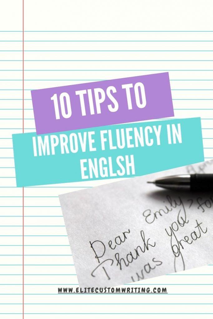 Improve English fluency
